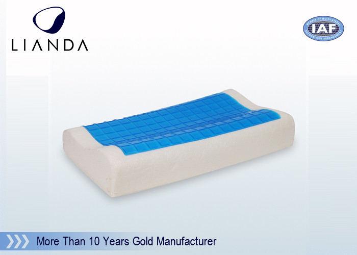 Visco-Elastic Memory Foam Pillow Cooling Gel Contour Help Deep Sleep