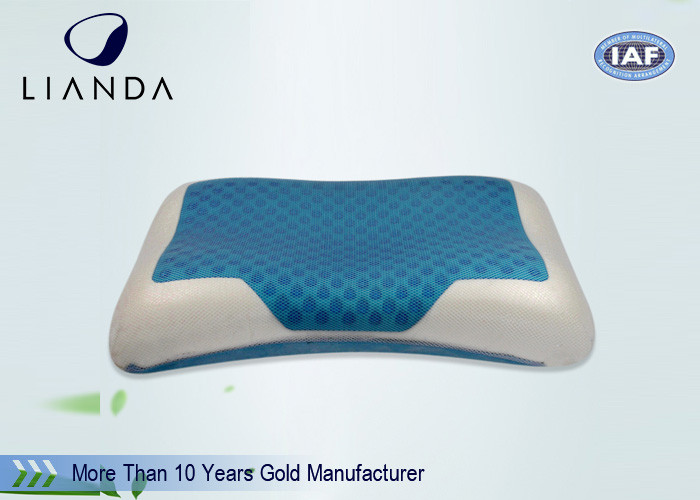 High Density Viscoelastic Cooling Gel Pillow Summer Ice Aqua , Memory Foam Pillow